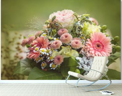 Colorful flower bouquet with gerbera