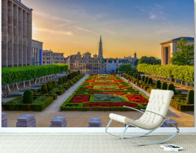 The Mont des Arts or Kunstberg is an urban complex and historic site in the centre of Brussels, Belgium. Cityscape of Brussels (Bruxelles). Architecture and landmarks of Brussels.
