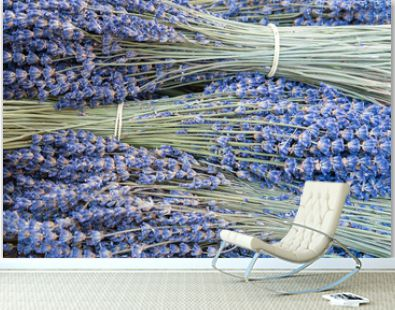 Dried lavender for sale at a market
