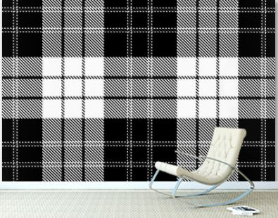 Spotted black and white grunge. Abstract halftone background. Trendy weave texture. Monochrome particles abstract for wallpaper. Interior fabric garment gift wrapping paper graphic design.