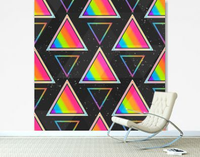Rainbow triangle seamless pattern.