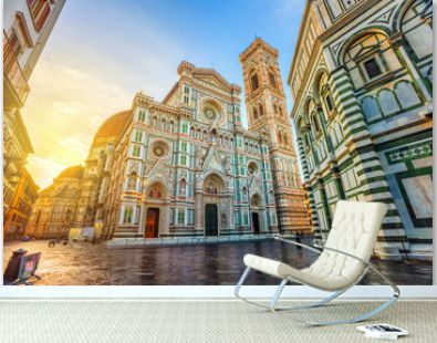 Cathedral of Florence in Piazza del Duomo, Florence, Italy