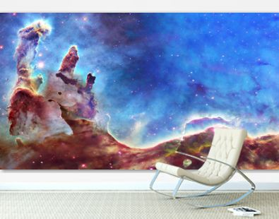 Pillars of creation and space dust in deep space. . Elements of this image were furnished by NASA