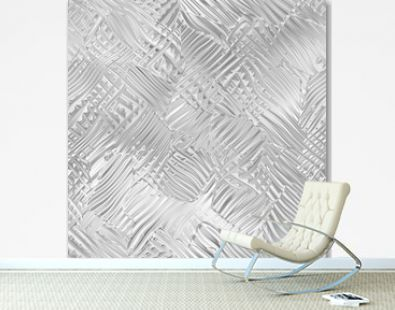 3d metal seamless pattern, abstract silver background, shiny texture