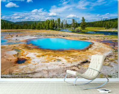The colorful hot spring pools in Yellowstone National Park, Wyoming.