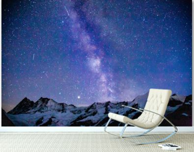 The milky way over the swiss alps