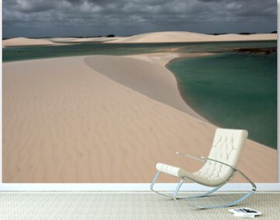 sand dunes and oasis