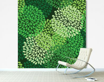 seamless green pattern in vector