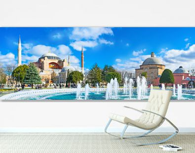 Panorama with the fountain