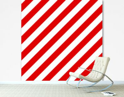 Abstract Seamless diagonal striped pattern with red and white st