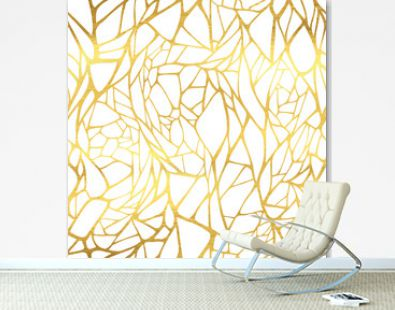 Seamless pattern with abstract golden ornament