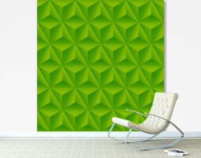 Seamless pattern with green triangular relief