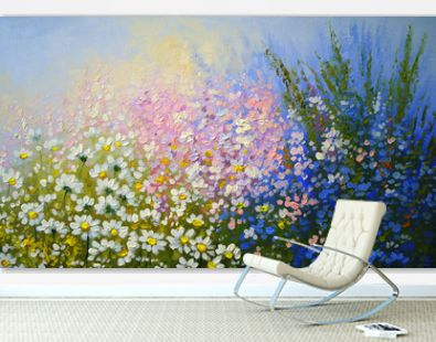 Flowers, oil paintings landscape