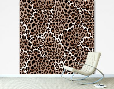 Leopard or jaguar seamless pattern. Modern animal fur design. Vector illustration background