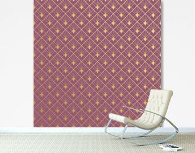 Art deco seamless pattern - pattern swatches included for illustrator user