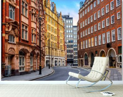 Historical buildings in London city center, England, UK