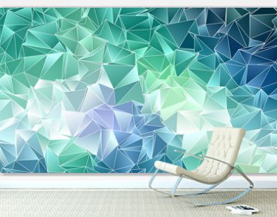 Abstract polygonal background. Triangulated texture