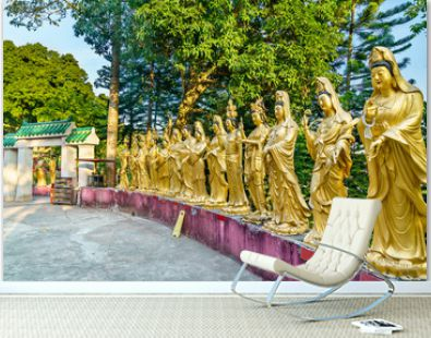 Statues at the Ten Thousand Buddhas Monastery in Hong Kong