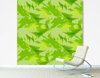 Abstract bright background as UFO camouflage in different shades of green