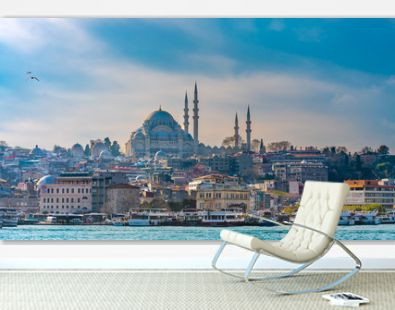 Blue Mosque, Building And Sea View
