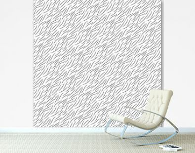 Black and white animal wool texture seamless pattern