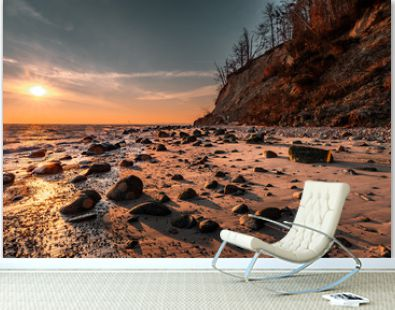 cliff on the beach in Gdynia