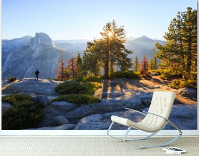 fantastic outlook in Glacier Point,Yosemite national park California