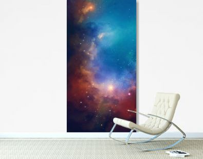 Nebula on a background of outer space