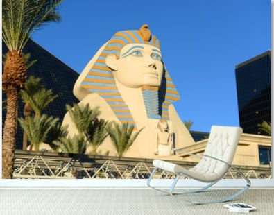 Great Sphinx of Giza replica on Las Vegas Strip in Las Vegas, Nevada, USA.