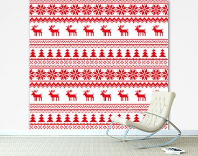 New Year's Christmas pattern pixel vector illustration