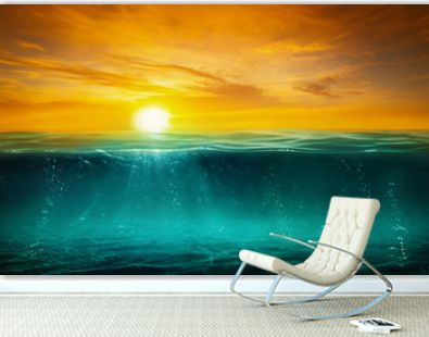 BLUE UNDER WATER with SUNRISE - Image