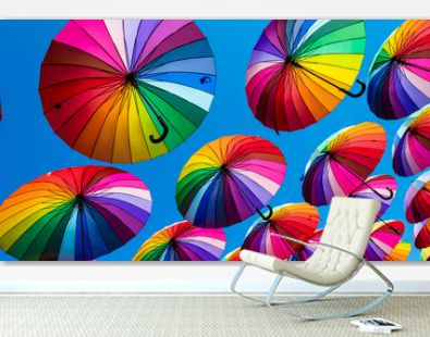 Rainbow umbrella colorful rainbow