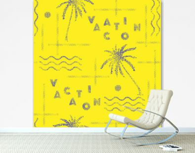 Bright color hand point dots on vacation summer tropical mood with the line seamless pattern  vector design for fashion,fabric,wallpaper and all prints