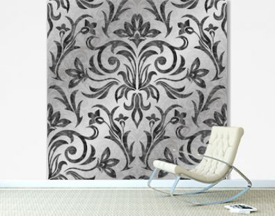Luxurious Damask pattern Vector ornament decor. Baroque background textures.