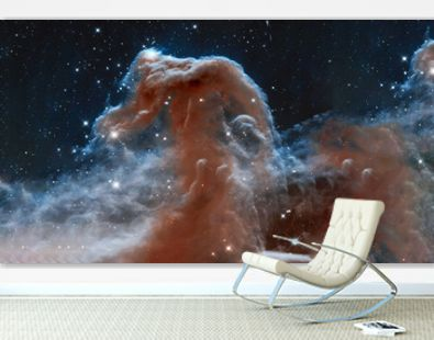 The Horsehead Nebula upper ridge illuminated by Sigma Orionis. Science astronomy concept wallpaper. Elements of this image were furnished by NASA, ESA