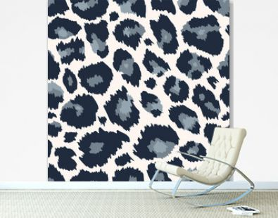 Trendy snow leopard seamless pattern