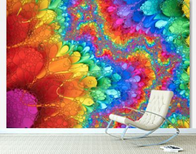 Mixing water and oil to form beautiful colorful abstract backgrounds