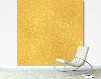 Gold seamless vintage pattern, golden foil texture background