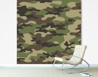 Military camouflage seamless pattern army texture vector