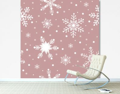 Seamless pattern of snowflakes  vector illustration