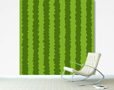 Summer colorful seamless pattern of the bright green watermelon peel. Vector illustration.