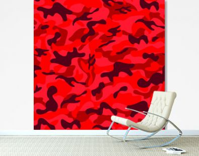 seamless red camouflage pattern