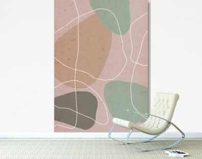 abstract background with free form shapes and lines. modern design, contemporary illustration, paper texture