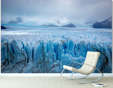 Horizontal view Glacier Perito Moreno national park Los Glaciares. The Argentine Patagonia in Autumn.