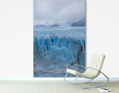 Vertical View Glacier Perito Moreno national park Los Glaciares. The Argentine Patagonia in Autumn.