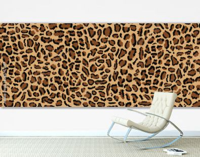 Leopard pattern design, vector illustratin, trendy background, Leopard fur pattern seamless real hairy texture. Fashion, trend 2019. Animal design. Brown, orange, yellow