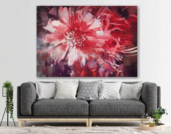 beautiful autumn flowers,old painting style