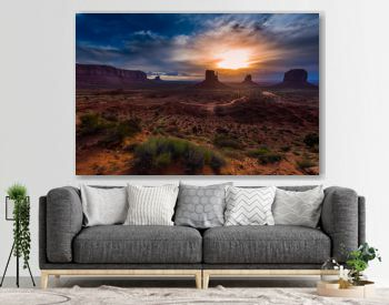 Monument Valley Cloudy Sunrise