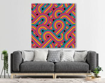 Seamless abstract retro lines pattern