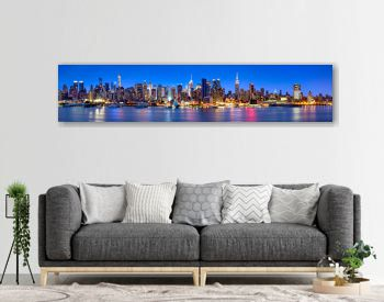 Manhattan Skyline Panorama bei Nacht